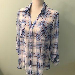 NWT Express sheer buttons down shirt